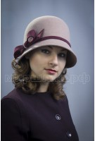 Шляпка фетровая Кармелла