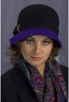 Шляпка фетровая двухцветная
