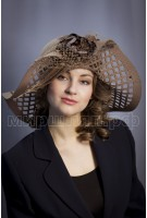 Шляпка фетр Альстромерия