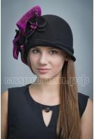 Шляпа фетровая Гермини