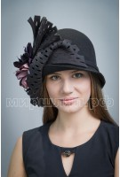 Шляпа фетровая Баронесса