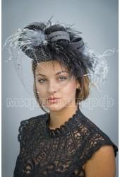 Коктейльная шляпка                                              Роза
